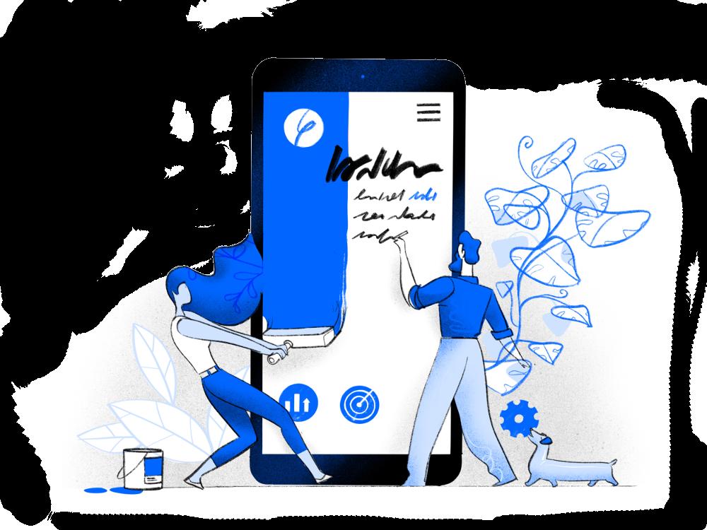 Web design hero image