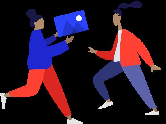 web portfolio illustration