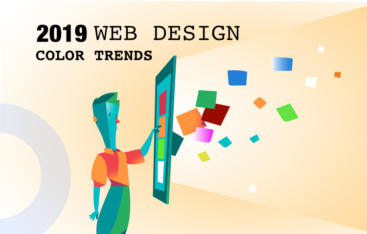 Web design color trends for 2019