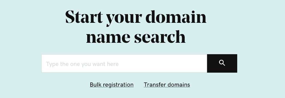 How to search domain name availability
