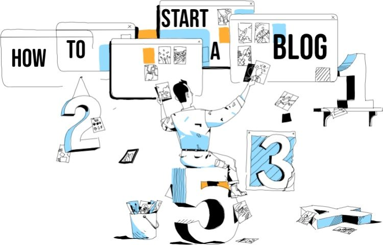 How to start a blog illustration