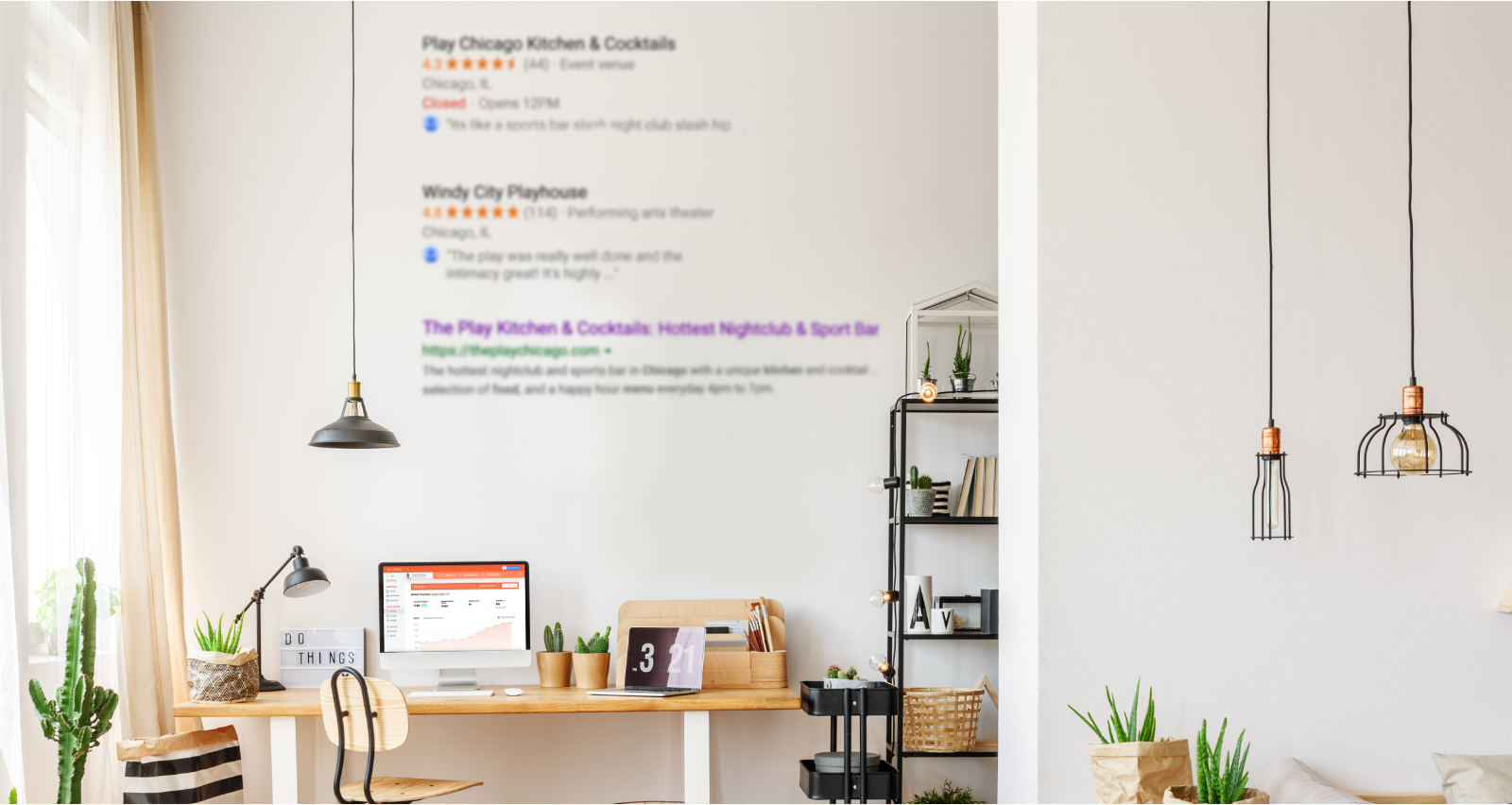 SEO resources image with desk as background