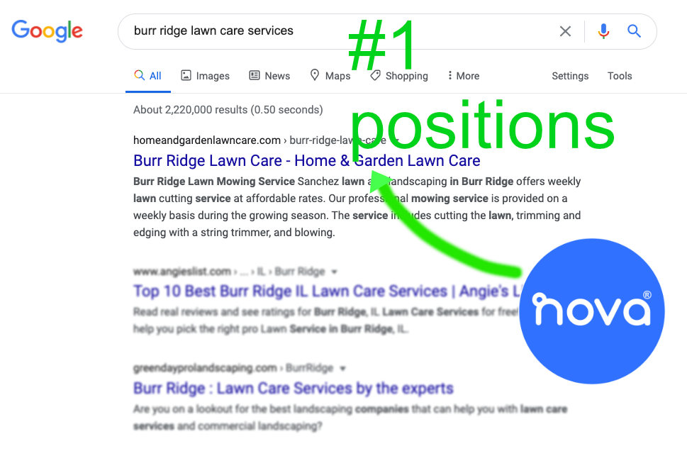 small business top positions in Google